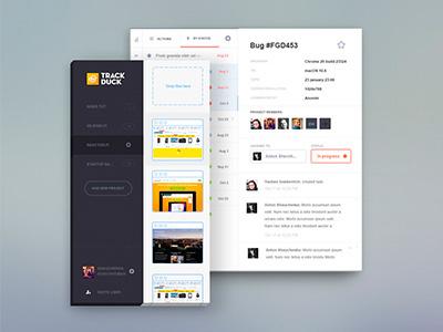TrackDuck trackduck visual feedback admin panel ui flat