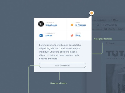 popover ui trackduck popover textarea submit input