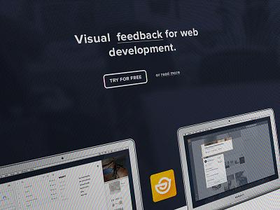 TrackDuck + freebie freebies landing flat screen psd free ui app