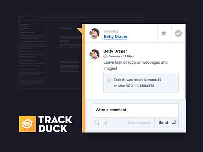 Updated extesion trackduck screenshot webapp visual feedback freebie ui