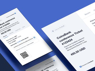 CoinsBank Merchant UI