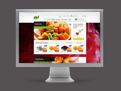 Retail website concept web e-commerce tiled blurred concept web site