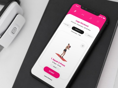 SWEAT Concept Design fitness developer app application app design