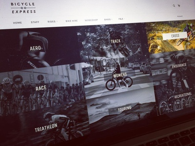 Bicycle Shop design development webdesign ui ux graphic