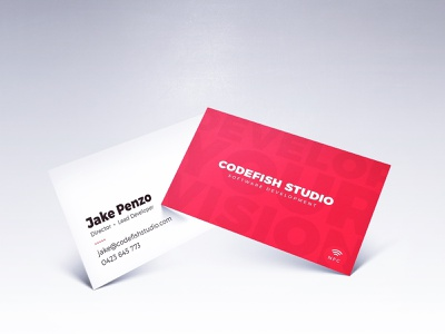 CodeFish Studio - Business Cards 2019 contactless nfc business card design graphic  design business cards