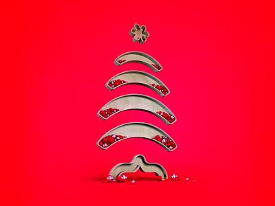 Merry Christmas people! cinema signage rendering 3d logo