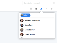 Assigning tasks inline