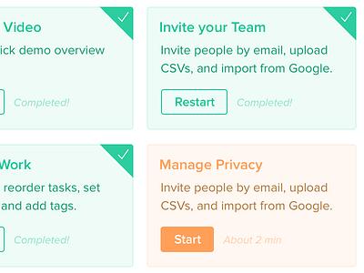 Tutorial menu tutorial button checkmark complete interface ui