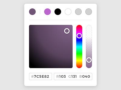 Colour Picker ui interface input slider form color picker colour picker popover popout picker colour color