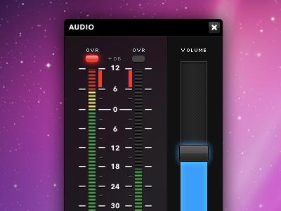 Audio design desktop application forms