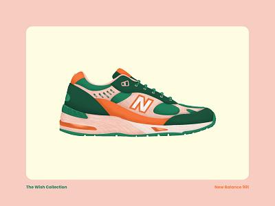 New Balance 991 grain digital art artwork new balance concept art illustration shoe sneakers