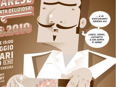 La Sagra del Pignone Ferrarese illustration flyer character alleycat fixed gear