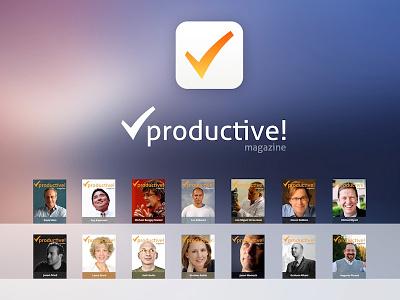 Productive Magazine's issue list productive magazine ios7 productivity