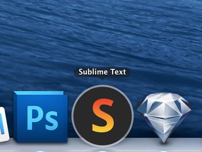 Super simple Sublime Text app icon osx sublime text app icon mavericks yosemite dock