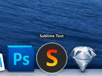 Super simple Sublime Text app icon