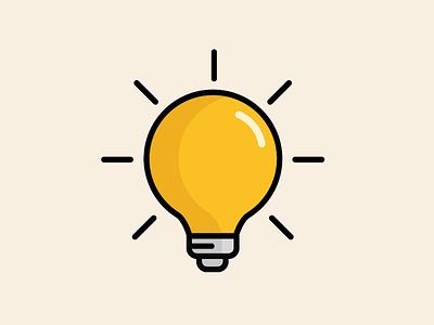 Idea icon vector lightbulb light idea