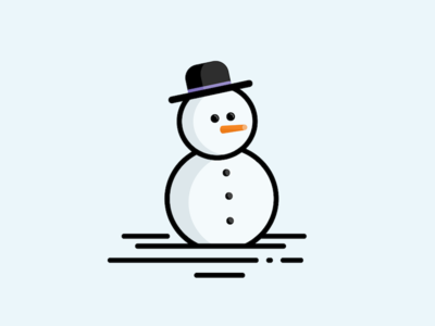 Snowman vector carrot snow winter illustration icon snowman