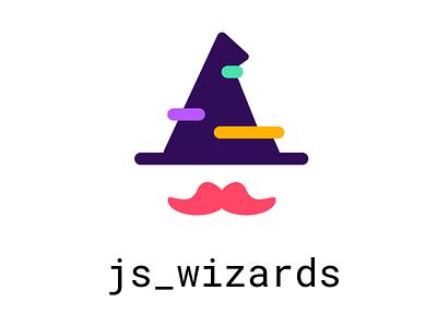 js_wizards designers developers new redesign refresh mustache code gandalf wizard js logo