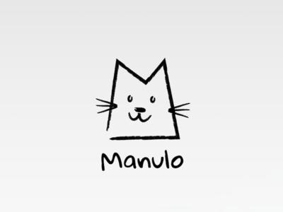 Manulo sketch raw carbon drawing logo manulo manul cat