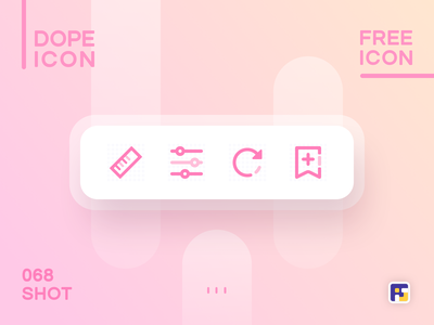 Dopeicon - Icon Showcase 068 filters size chart size dopeicon freebies website type flat web animation app icon branding vector ux typography ui design logo illustration
