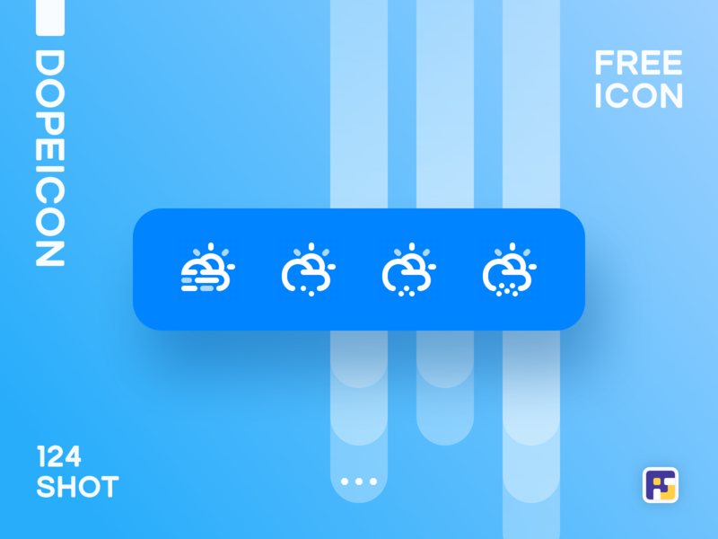 Dopeicon - Icon Showcase 124 weather icon weather top 4 website web vector ux ui typography logo illustration icon freebies flat dopeicon dope design branding app animation