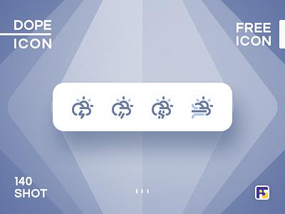 Dopeicon - Icon Showcase 140 weather icon weather c4d website web vector ux ui typography logo illustration icon freebies flat dopeicon dope design branding app animation
