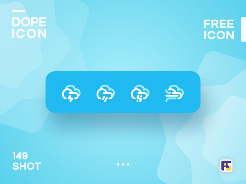 Dopeicon - Icon Showcase 149 weather app weather icons dope dopeicon freebies website type flat web animation app icon branding vector ux typography ui design logo illustration
