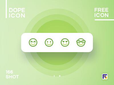 Dopeicon - Icon Showcase 166 smile emoji dope dopeicon freebies website type flat web animation app icon branding vector ux typography ui design logo illustration