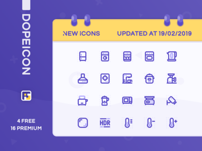 Dopeicon Updated by 19/02/2019 home appliances furniture dope dopeicon freebies website type flat web animation app icon branding vector ux typography ui design logo illustration