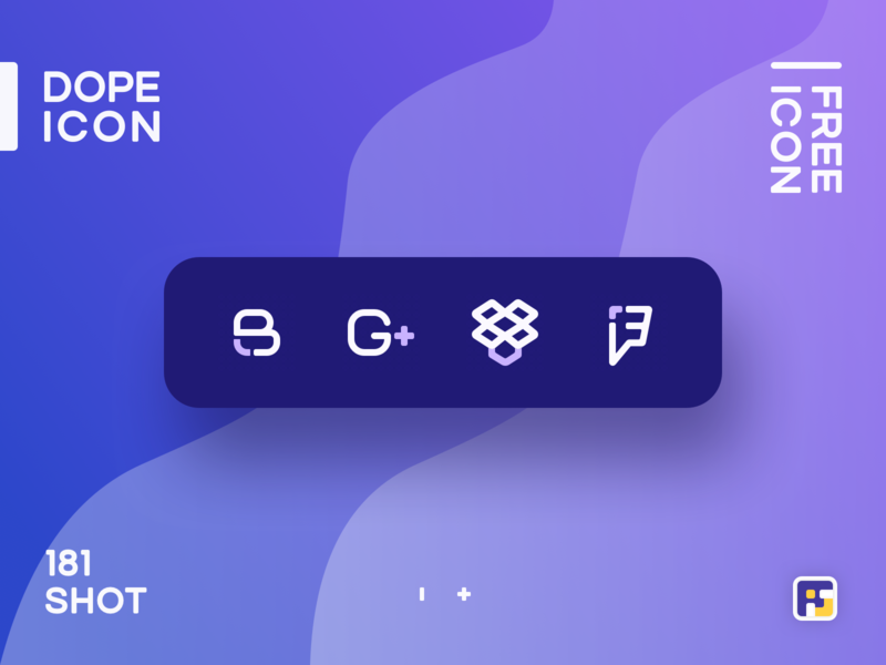 Dopeicon - Icon Showcase 181 social icons social buttons dope dopeicon freebies website type flat web animation app icon branding vector ux typography ui design logo illustration