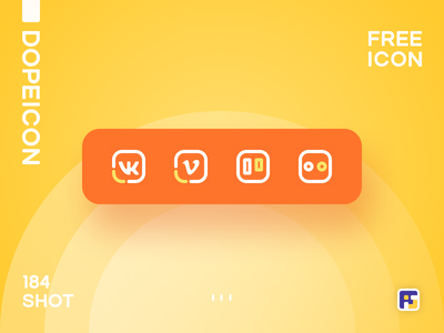 Dopeicon - Icon Showcase 184 social buttons social icons dope dopeicon freebies website type flat web animation app icon branding vector ux typography ui design logo illustration