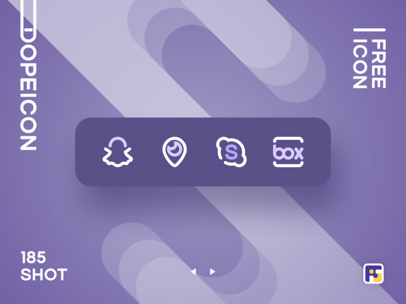 Dopeicon - Icon Showcase 185 social app social icon dope dopeicon freebies website type flat web animation app icon branding vector ux typography ui design logo illustration