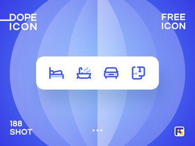 Dopeicon - Icon Showcase 188 floor plan bedroom parking property real estate dope dopeicon freebies website web animation app icon branding vector typography ui design logo illustration