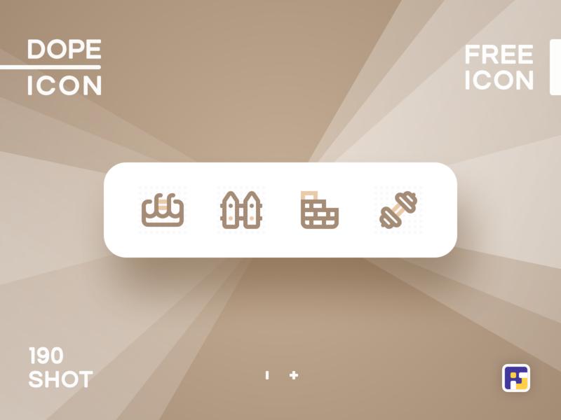 Dopeicon - Icon Showcase 190 gym swimming pool property listing real estate dope dopeicon freebies website web animation app icon branding vector ux typography ui design logo illustration