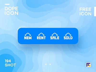 Dopeicon - Icon Showcase 194 realty rental real estate app real estate dope dopeicon freebies website web animation app icon branding vector ux typography ui design logo illustration