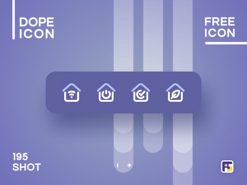 Dopeicon - Icon Showcase 195 realty smart home real estate app real estate dope dopeicon freebies website web animation app icon branding vector ux typography ui design logo illustration