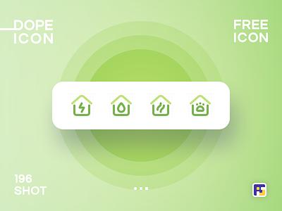 Dopeicon - Icon Showcase 196 electricity real estate app property real estate dope dopeicon freebies website web animation app icon branding vector typography ui design logo illustration