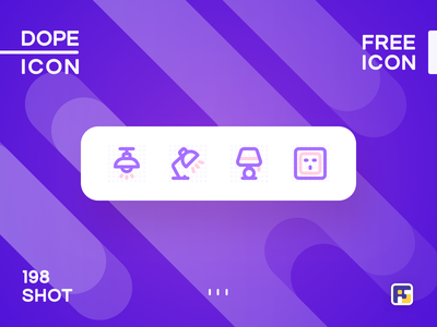 Dopeicon - Icon Showcase 198 smart home power point light lamp dope dopeicon freebies website type web animation app icon branding vector ux typography design logo illustration