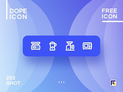 Dopeicon - Icon Showcase 203 print mobile dope dopeicon freebies website flat web design animation app icon branding vector typography ui design logo illustration