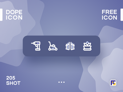 Dopeicon - Icon Showcase 205 print mobile dope dopeicon freebies website flat web design animation app icon branding vector typography ui design logo illustration