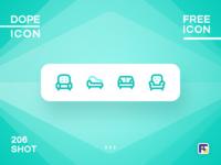 Dopeicon - Icon Showcase 206 print mobile dope dopeicon freebies website flat web design animation app icon branding vector typography ui design logo illustration