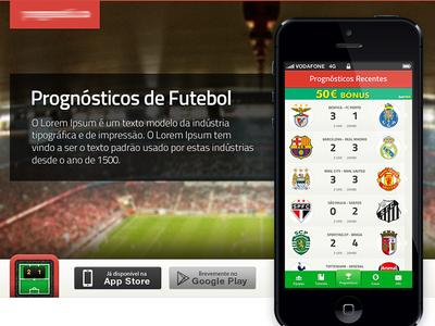 Template Website App Prognosticos V2 Mini