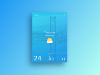 Dribbble Weather Widget