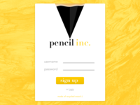Pencil inc. ✏️ — Daily UI Challenge #001