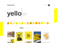 Designspiration Search 💛 Daily UI Challenge #022
