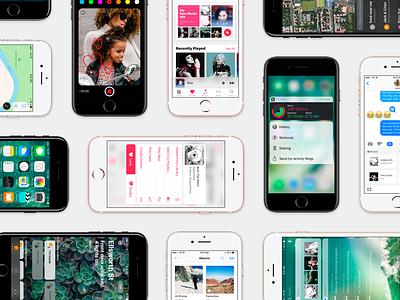 iOS 10 GUI | Big Update ios10 iphone 3d touch apple music apple gui ios