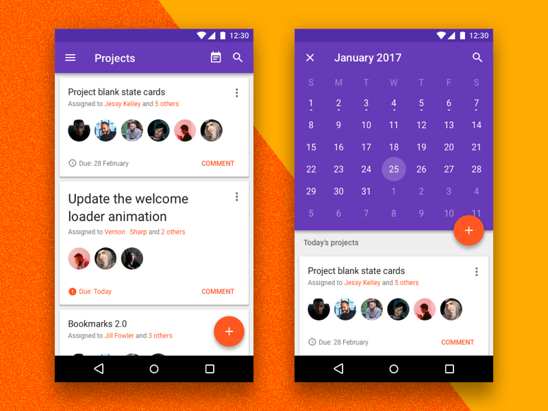 Material Design Kit | Productive to do task manager material design projects calendar task productivity productive gui material android