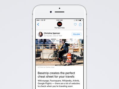 iOS Design Kit — Reader reader app ios design kit blog article reader ios