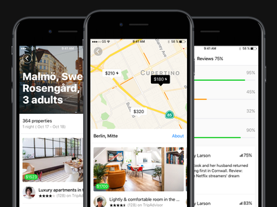 Stack Booking Screens ui kit location search booking ui