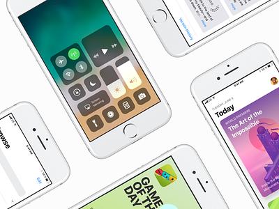 iOS 11 GUI — Already for you! ui kit freebie free uikit apple ios11 gui 11 ios
